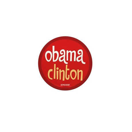 Obama Clinton Mini Button (10 pack)