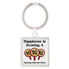 Happiness10 Square Keychain