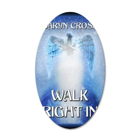 Walk Right In greeting card 35x21 Oval Wall Decal