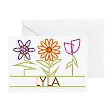 LYLA-cute-flowers Greeting Card
