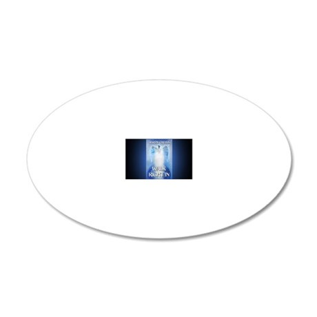 Walk Right In rect mag 20x12 Oval Wall Decal