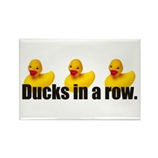 Ducks in a Row Rectangle Magnet