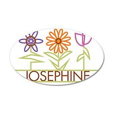 JOSEPHINE-cute-flowers 35x21 Oval Wall Decal