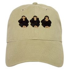 Hear, See, Speak No Evil Monkey Baseball Cap