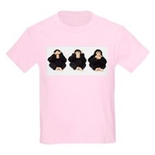 Hear, See, Speak No Evil Monkey Kids T-Shirt