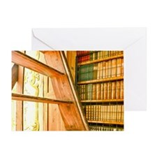 The library contains volumes hundred Greeting Card