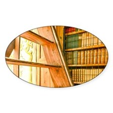 The library contains volumes hundre Decal