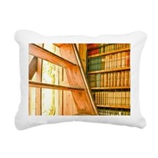 The library contains vol Rectangular Canvas Pillow