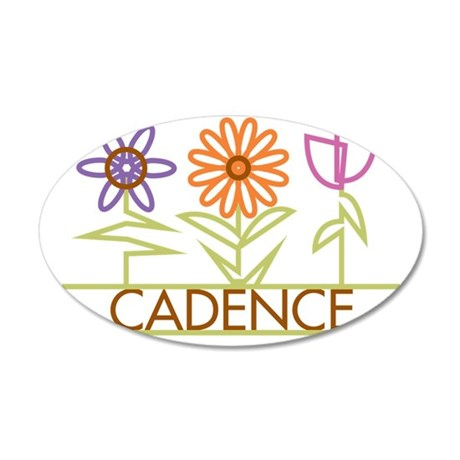 CADENCE-cute-flowers 35x21 Oval Wall Decal