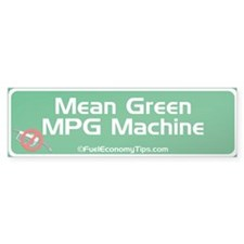Green MPG Bumper Bumper Sticker