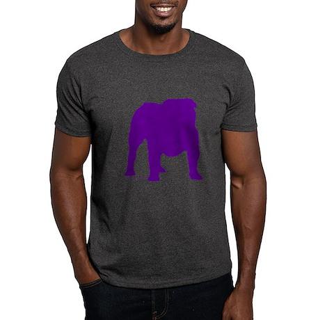 Purple Bulldog Silhoutte Dark T-Shirt