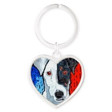 Right On Terrier Heart Keychain