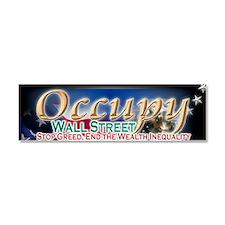occupy wall street 002 Car Magnet 10 x 3