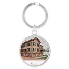 16x20 the lincoln home Round Keychain