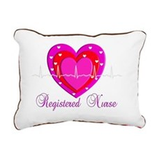 Registered Nurse PINK HE Rectangular Canvas Pillow