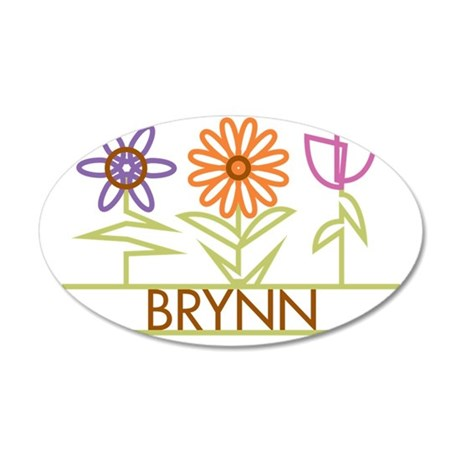 BRYNN-cute-flowers 35x21 Oval Wall Decal