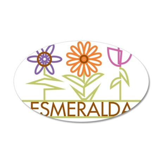 ESMERALDA-cute-flowers 35x21 Oval Wall Decal
