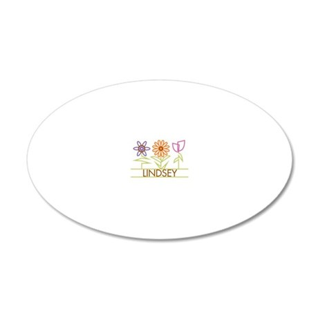 LINDSEY-cute-flowers 20x12 Oval Wall Decal