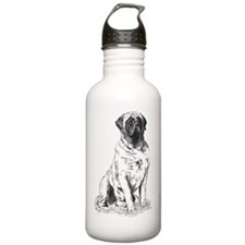 Mastiff Sitting Water Bottle
