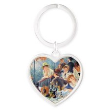 Renoir Boating RMag Heart Keychain