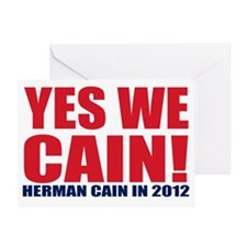 yes we cain Greeting Card
