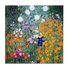 iPad Klimt Flowers Tile Coaster