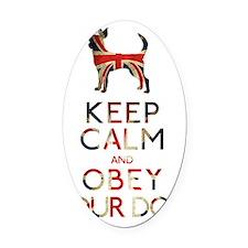 britishmagnet_obey Oval Car Magnet