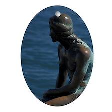 Denmark, Copenhagen Little Mermaid Oval Ornament