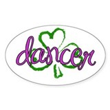 Sassy Shamrock Irish Dancer Oval Decal
