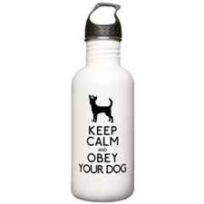 blackandwhite_obey Water Bottle