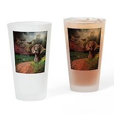 godmadedogs(button) Drinking Glass