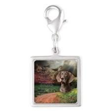 godmadedogs(button) Silver Square Charm