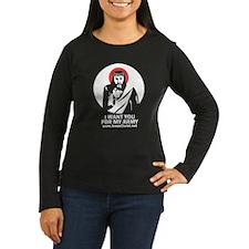 Women's Long Sleeve Dark Coloured Jesus T-Shirt