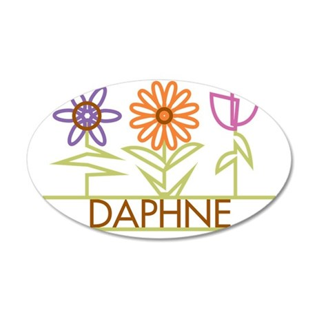 DAPHNE-cute-flowers 35x21 Oval Wall Decal