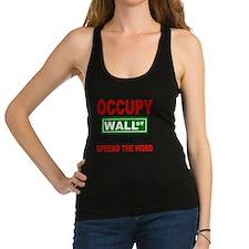 occupy wall street spread the w Racerback Tank Top