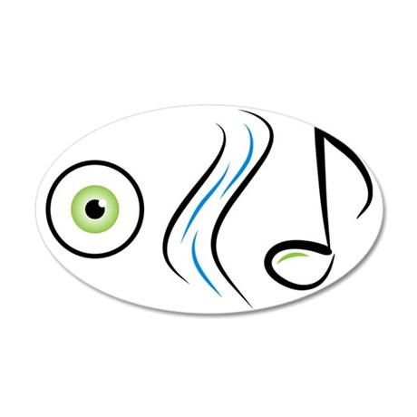 IStreamMusicGraphic 35x21 Oval Wall Decal