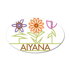 AIYANA-cute-flowers 35x21 Oval Wall Decal