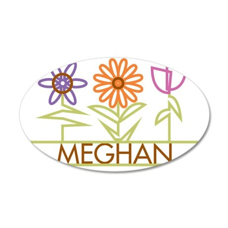 MEGHAN-cute-flowers 35x21 Oval Wall Decal