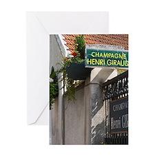 Champagne house Maison Giraud-Hemart Greeting Card