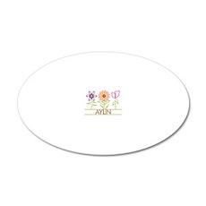 AYLIN-cute-flowers 20x12 Oval Wall Decal
