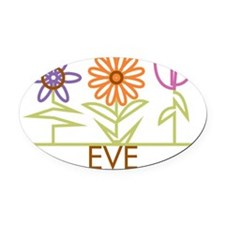 EVE-cute-flowers Oval Car Magnet