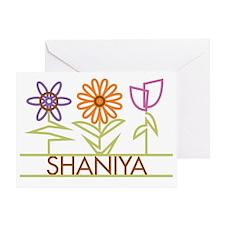 SHANIYA-cute-flowers Greeting Card