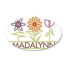 MADALYNN-cute-flowers 35x21 Oval Wall Decal