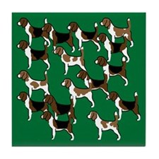 Group o' Beagles Tile Coaster