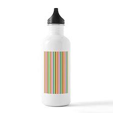 cabana stripes melon s Water Bottle