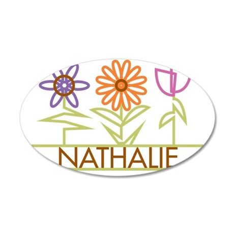 NATHALIE-cute-flowers 35x21 Oval Wall Decal