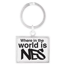 Where Is Nes? Landscape Keychain
