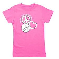 P,L,Basketball, white Girl's Tee