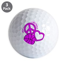 P,L,Basketball, hot pink Golf Ball