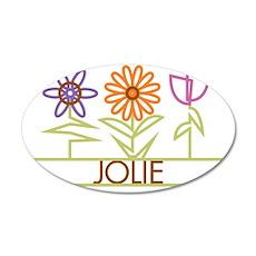 JOLIE-cute-flowers 35x21 Oval Wall Decal